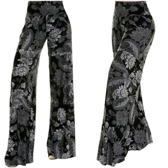 f4a3fdeeb23114 Uptown Pants | Black White Floral Palazzo | Poshmark
